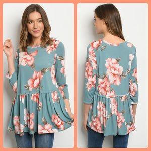 2 for $40❤️sage floral top